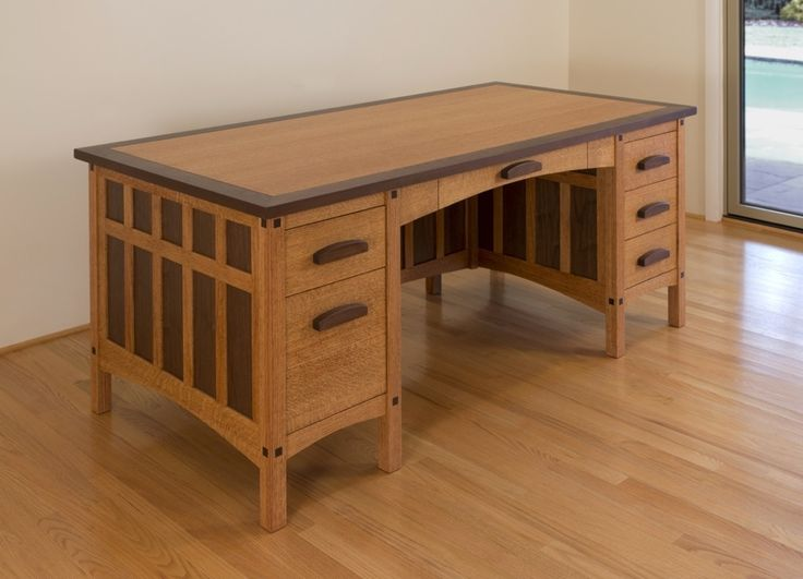 17 best images about tables desks on pinterest for Craftsman furniture plans