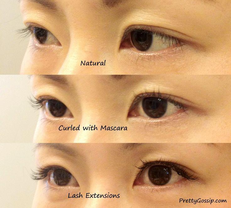 Eyelash Extensions Before And After | Eyelash Extensions: Before and After Photos | Pretty Gossip