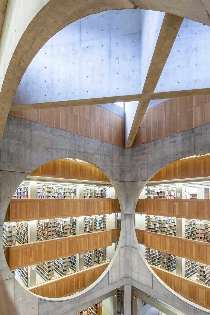 Exeter Library by Louis Kahn. Photo by Sean Norsworthy | http://www.yellowtrace.com.au/circles-in-architecture/