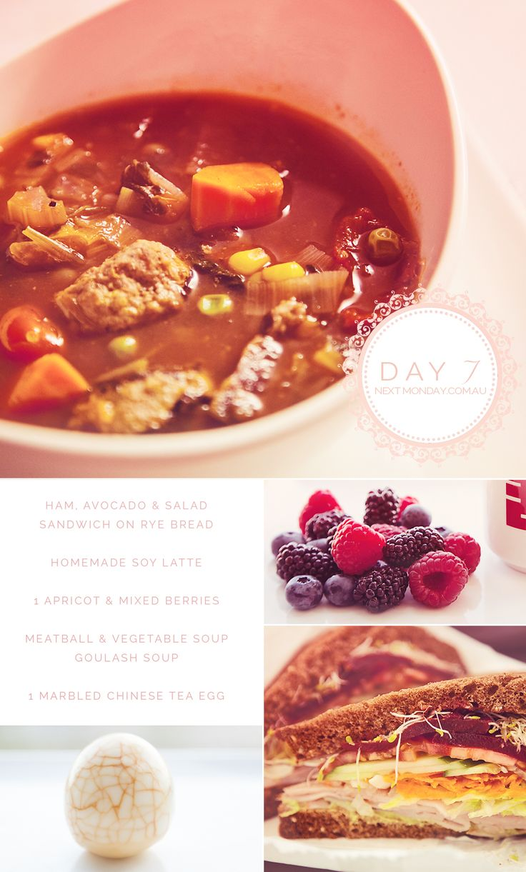 NextMonday.com.au... Follow my weight loss story.... Meatball soup.... High protein, low GI, low carb diet. I photograph every meal I eat daily!