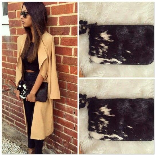 Pony hair clutch ..love this for winter. www.thestmntstore.com