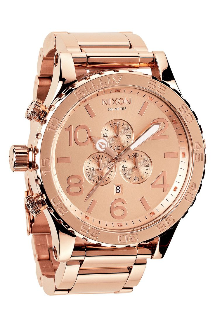 Putting this rose gold Nixon watch on the wish list!