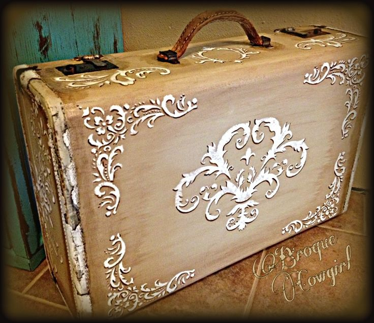 """Shabby Travelin'"" redo of an old suitcase."
