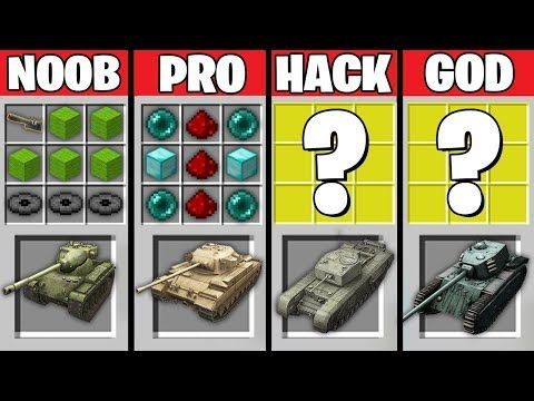 Minecraft Battle: NOOB vs PRO vs HACKER vs GOD : SUPER TANK