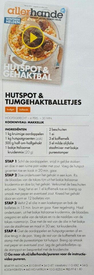 Hutspot & tijmgehaktballetjes