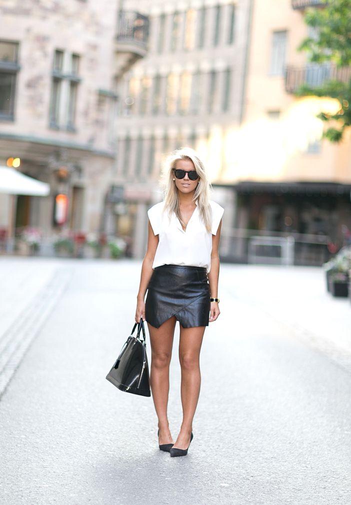 LEATHER SKIRT : P.S. I love fashion by Linda Juhola