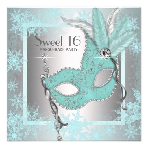 >>>Low Price          Teal Blue Snowflake Sweet 16 Masquerade Party Custom Invites           Teal Blue Snowflake Sweet 16 Masquerade Party Custom Invites in each seller & make purchase online for cheap. Choose the best price and best promotion as you thing Secure Checkout you can trust Buy bes...Cleck Hot Deals >>> http://www.zazzle.com/teal_blue_snowflake_sweet_16_masquerade_party_invitation-161431079728467242?rf=238627982471231924&zbar=1&tc=terrest