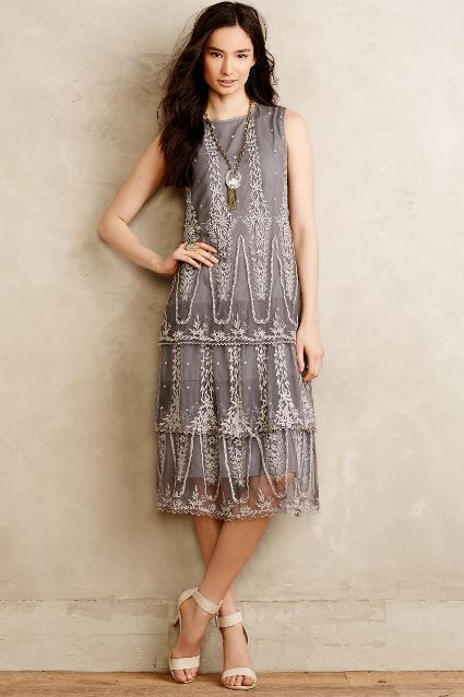 Tiered Aster Midi Dress - anthropologie.com