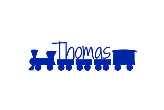 Treno di nome decalcomania, personalizzato Nursery Decor, treno Playroom, Nursery Room murale, treno bambino doccia decorazioni, treno vinile, Baby Boy Camera