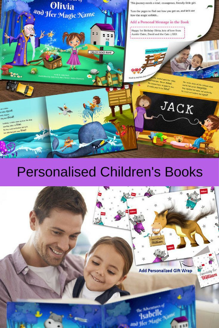 Personalised Books for Children // Create a beautiful unique personalised children's storybook.For boys or girls. Make a child the star of their very own personalised storybook.This is no ordinary children's book, every personalised book is entirely uniqu