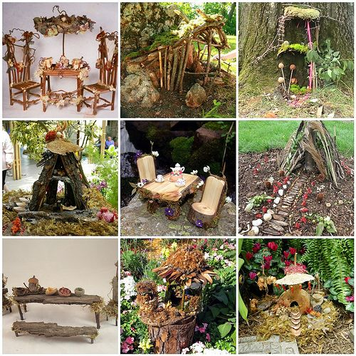 fairy homes made out of trash | Nature & Garden Fairy Houses | Happy Mouse Mansion