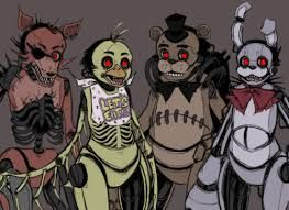 After seeing these models in a SFM video...these actually look quite creepy to me, especially if you can the rib cages of Foxy and Chica..