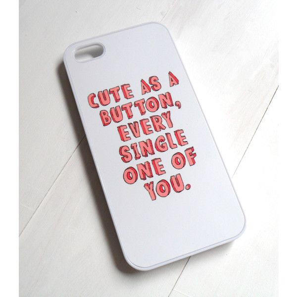 Cute as a Button Case - One Direction Marcel Inspired ($15) found on Polyvore