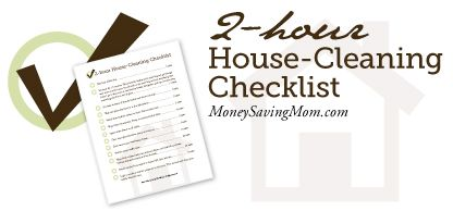 FREE  2-hour House-Cleaning Checklist