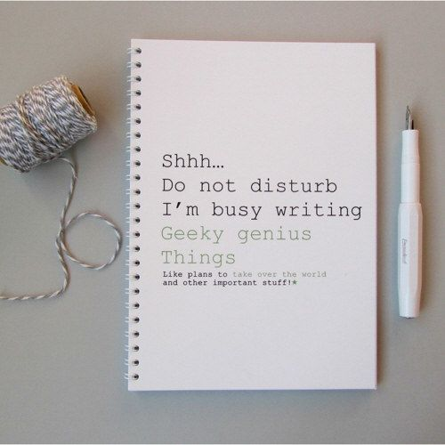Geeky Genius notebook, £4   48 Lovely Little Stocking Fillers Under £15