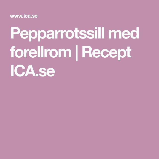 Pepparrotssill med forellrom | Recept ICA.se