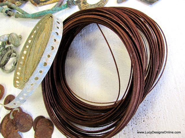 How I Give Metal and Wire Pieces an Aged, Rusty Patina Using Vinegar, Hydrogen Peroxide and Salt