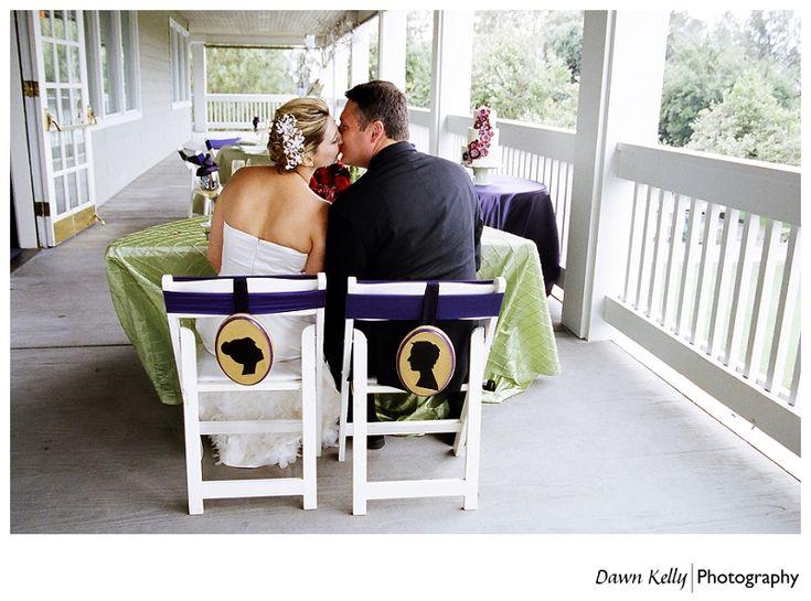 Bride with slicked back chignon at Chez Shari golf course wedding in Manteca California