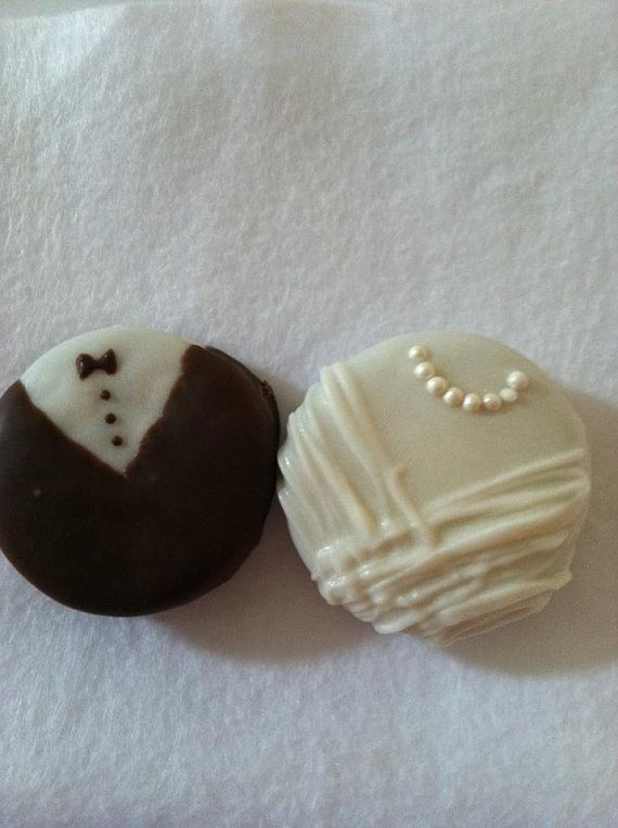 Bride & Groom Oreo Favors for wedding or bridal shower by rhondassweetretreat on Etsy, $2.00