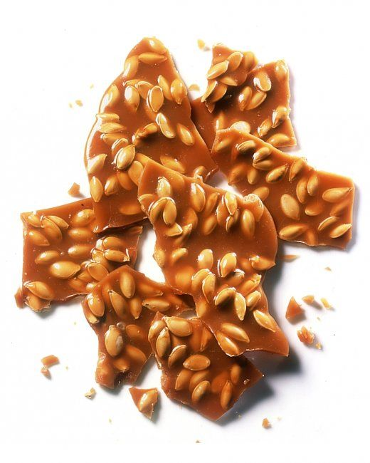Pumpkin-Seed Brittle RecipeSeeds Scrape, Keva, Brittle Recipe, Food ...