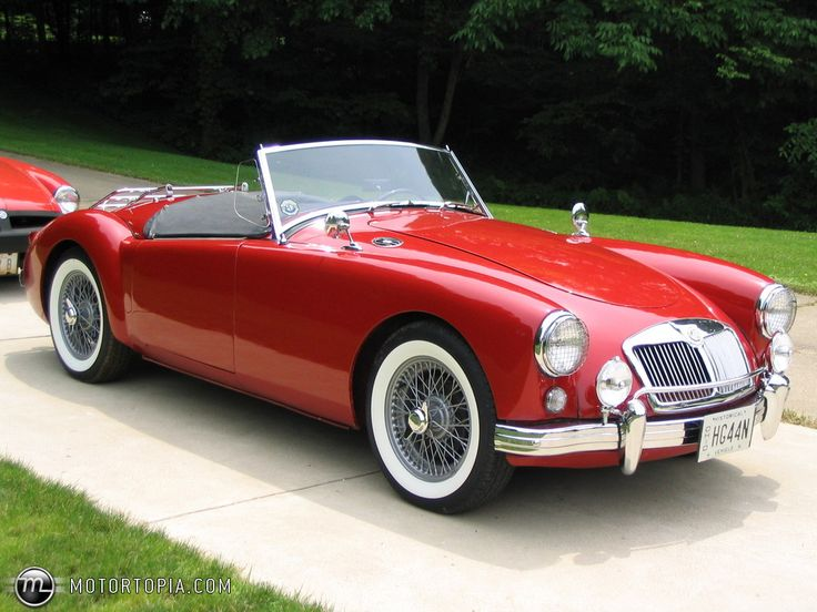 """1958 MG A Roadster. My """"Aunt"""" Maggie had one exactly like this! Even the same year."""