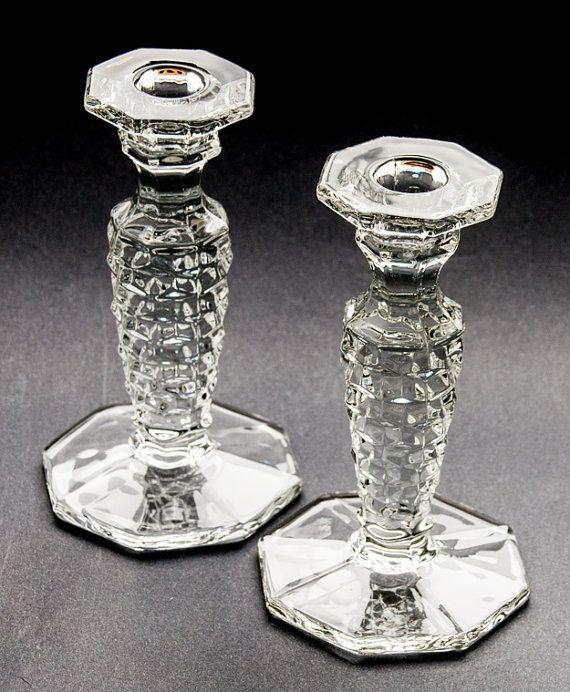 Candle Holders Fostoria Glass Fostoria Crystal Fostoria