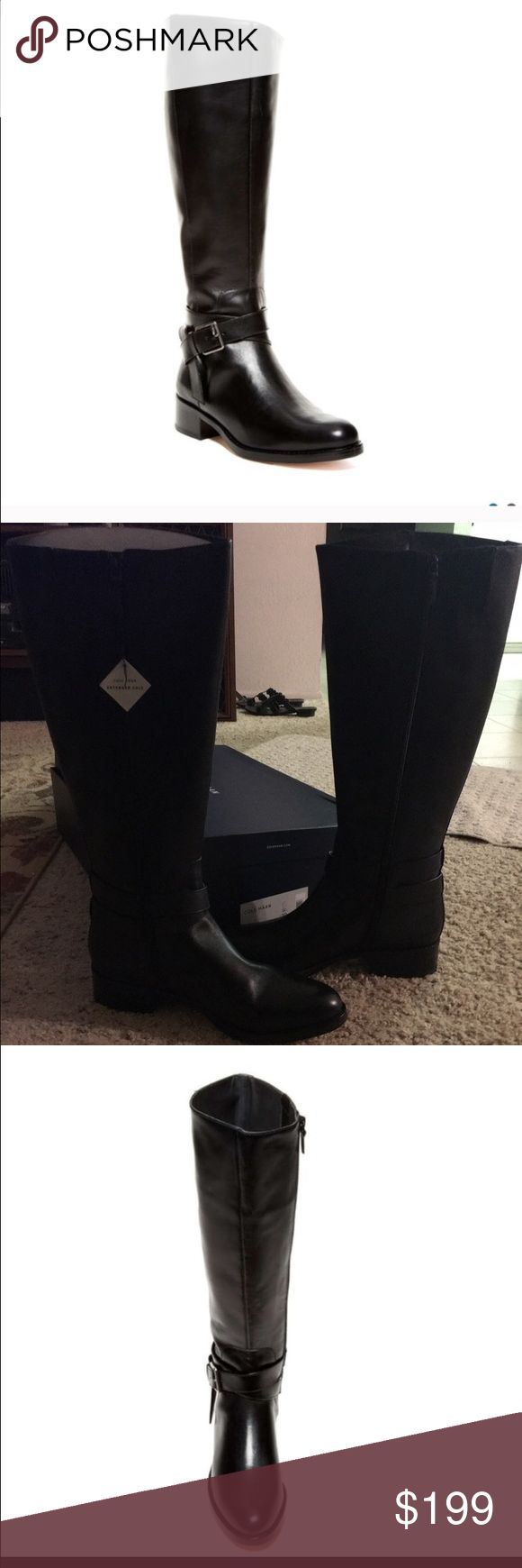 Cole Haan briarcliff leather boots ( tall calf) Tall girls- this is the boot for you💗. This style has an extended calf height, not width. Leather upper and sole. 15 1/2 inches at widest opening. Heel is 1 6/8 inches. Measurement from ground to top of boot is 18 inches. This is a great style for tall and long-legged girls. 🎁 Ask and I will drop 10% after you 'like' it, for this holiday weekend. Cole Haan Shoes