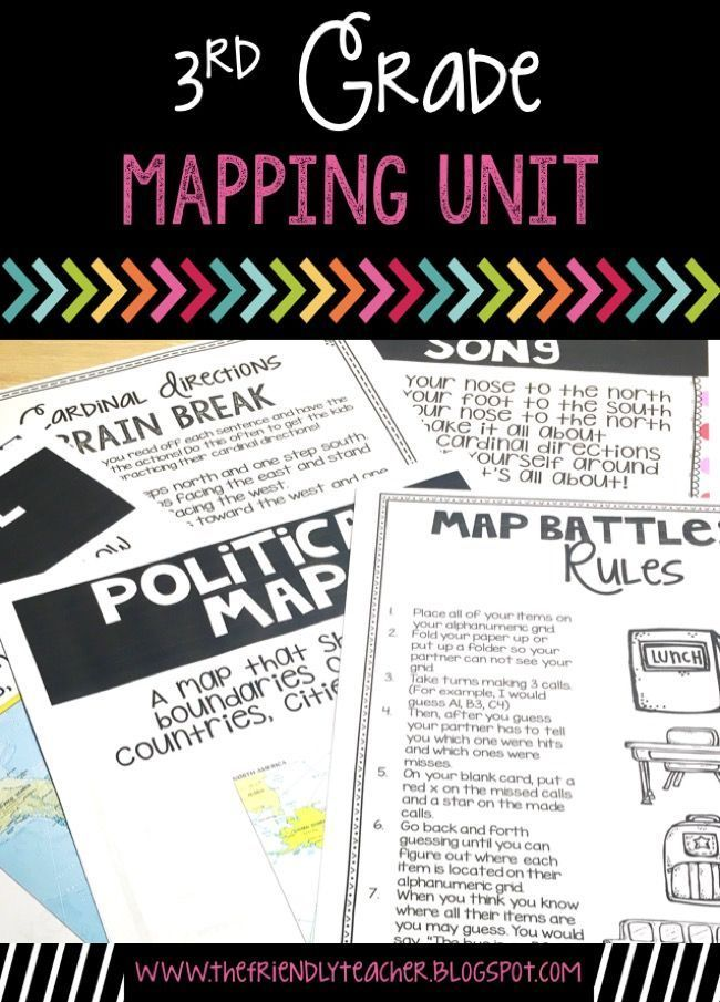 Social studies geography unit that focuses on mapping! Tons of interactive and hands-on activities!