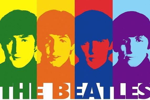 The Beatles Rainbow John Lennon Paul Mccartney Glossy Art Etsy Beatles Pop Art Beatles Poster Beatles Art