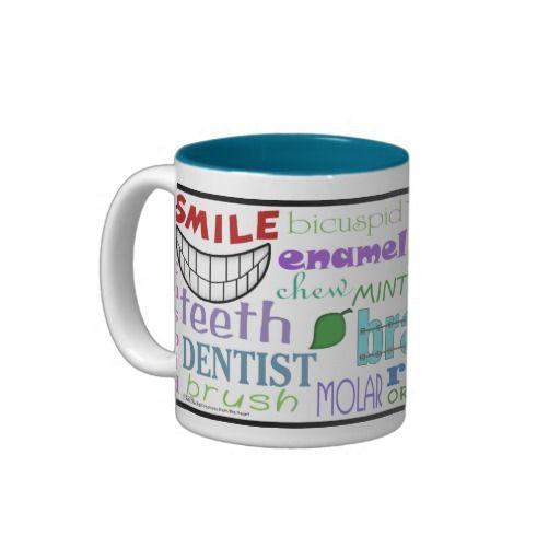 Dental Terms Subway Art Two-Tone Coffee Mug