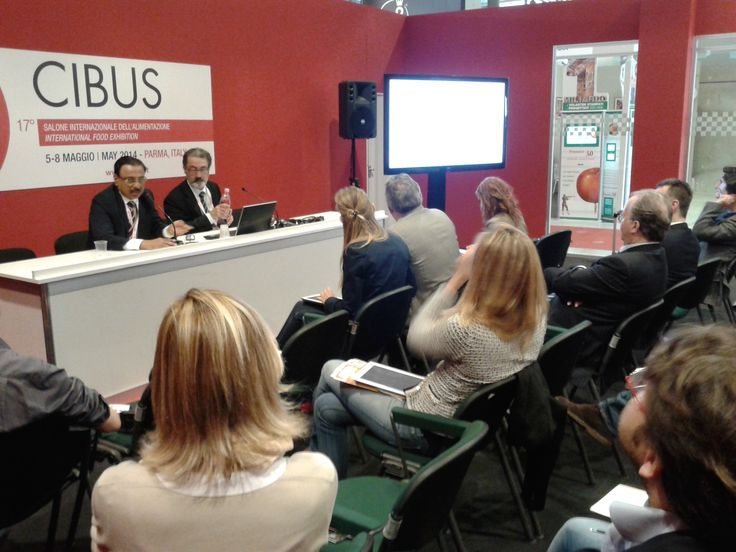 Enrico Perego during the #workshop on #food sector in #India held at CIBUS Fair 2014
