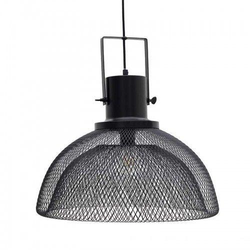 Μεταλλικό φωτιστικό οροφής #industrial αισθητικής σε μαύρο χρώμα.
