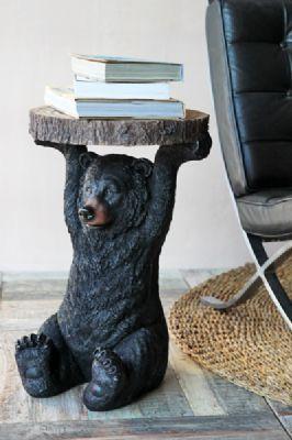 Bear Side Table for the little man's log cabin bedroom