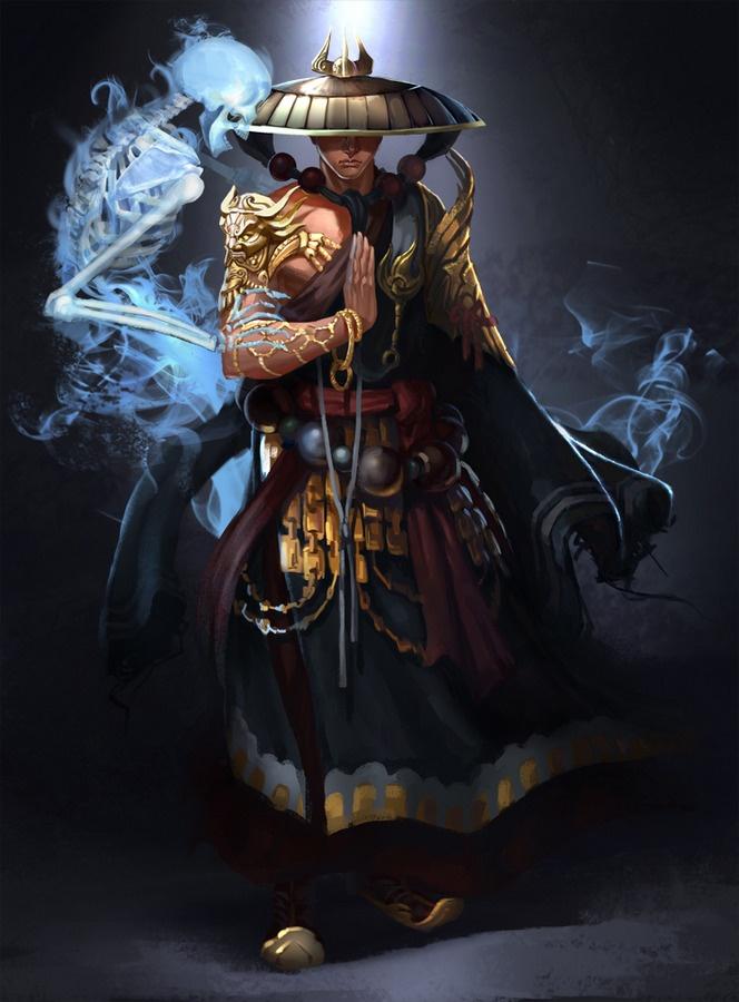 *Sen Yukiwa, human, oriental, wizard, lighting specialist.