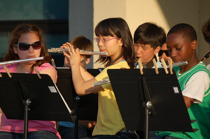 Middle school children playing music. I just love that picture :-)  http://pinterest.com/pin/240731542552160316/repin/