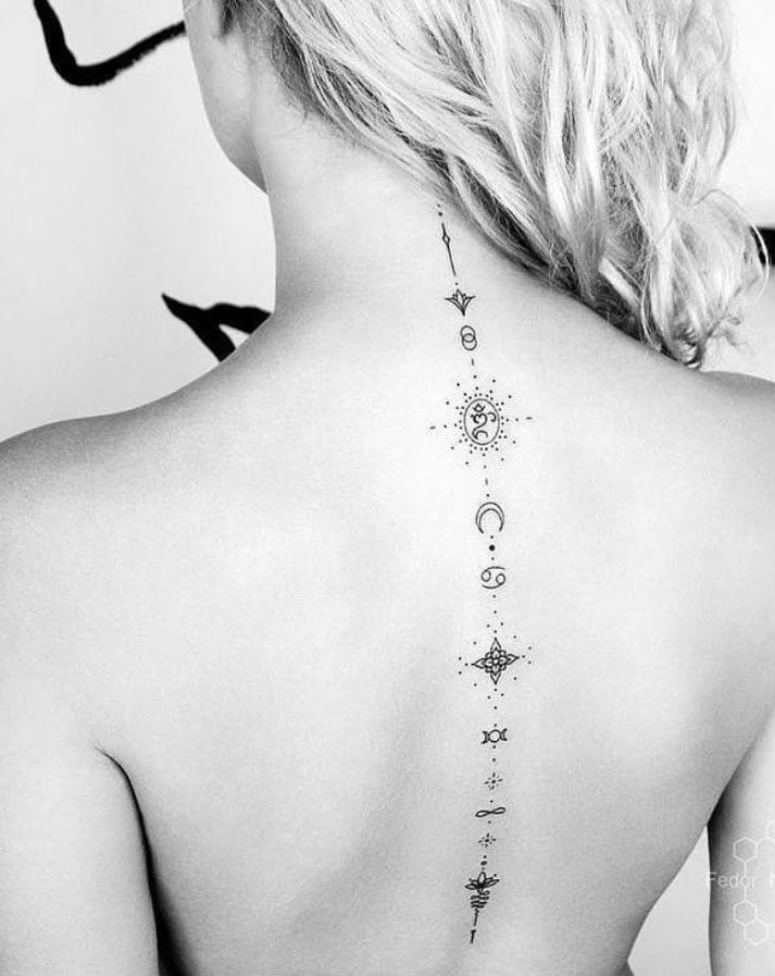 Small tattoo on back, Tiny tattoo design for woman, simple small tattoo ideas for girls, unique tiny tattoo, tiny tattoo with meanings, tattoo ideas for woman small, #tattoo #smalltattoo #tiny #womantattoo