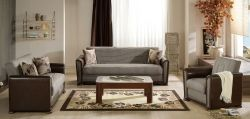 Alfa Living Room Set - Redeyef Brown