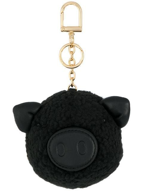 c9cf522888 Tory Burch Peggy The Pig Pom-Pom Key Ring