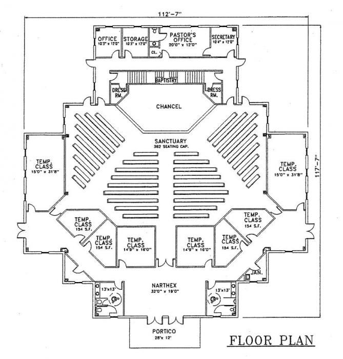 church plan 128 floor plan