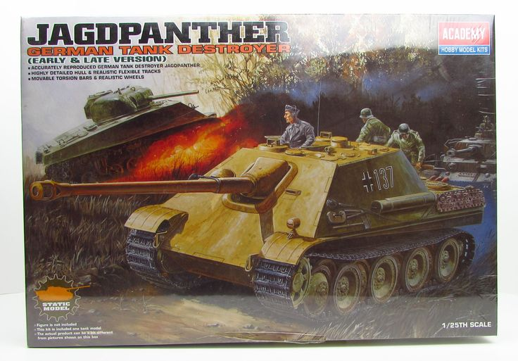 Jagdpanther Early and Late Academy 13019 1/25 New German Tank Destroyer Model