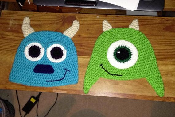 Mike Wazowski Crochet Baby Hat Pattern : 17+ best images about Gorros tejidos on Pinterest