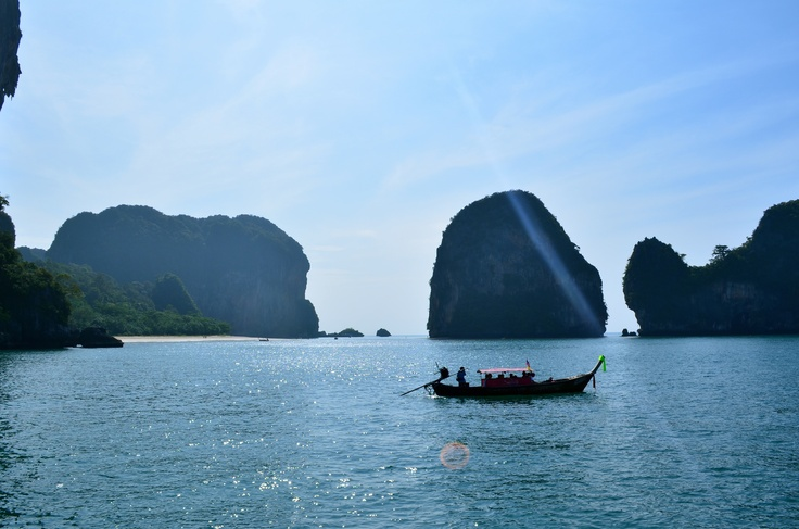 Trying to catch the ferry @ Railay Beach