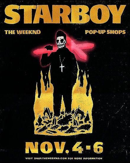 the weeknd starboy poster | Daft punk, Pop up shops, Album art