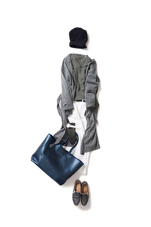 kk-closet | 2015-11-22 リラックスしたい日のニットスタイル 朝からネイルサロンにマッサージ、、、一日中、自分ケアの予定。こんな日は、ニットonニットで服からも、キモチを静めるようなグレー×ブルーの色からも、とことんリラックス!