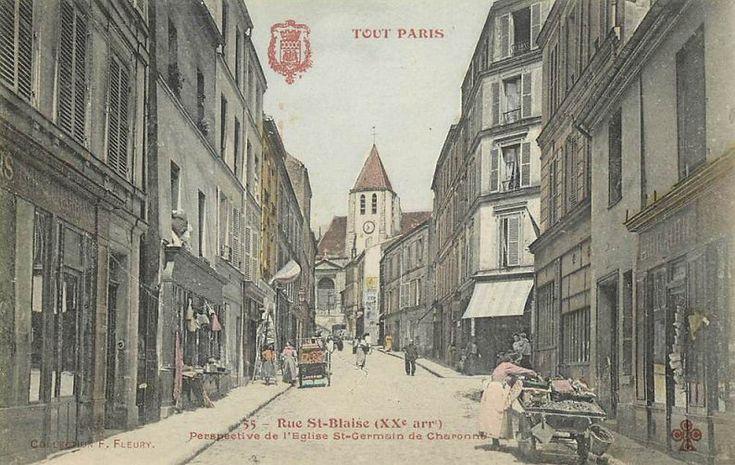 rue Saint-Blaise - Paris 20ème La rue Saint-Blaise vers 1900.