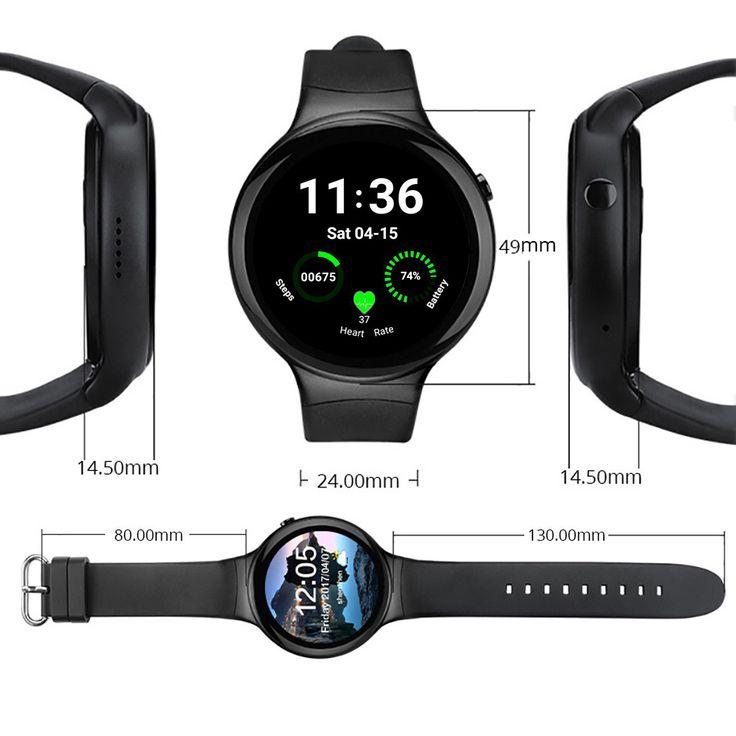 I4 Smart Watch Phone 1 GB + 16GB Android 5.1 SIM-kaart 3G WIFI GPS hartslagmeter Smart horloge