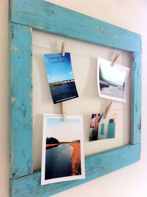 Rustic Multiple Picture Frame  Bahama Blue by shoponelove on Etsy, $40.00