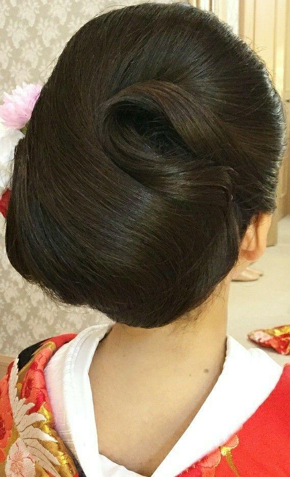 Pin By Vinod Wani On Japan Rollsup Beautiful Long Hair Bun Hairstyles For Long Hair Bun Hairstyles