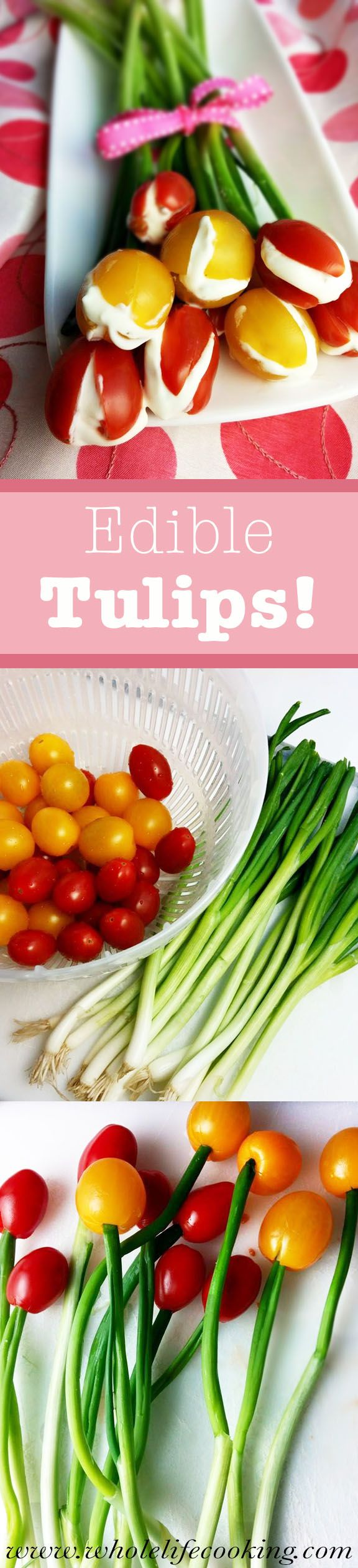 Edible Tulips by wholelifecooking: Great for Easter dinner. #Appetizer #Food_Art