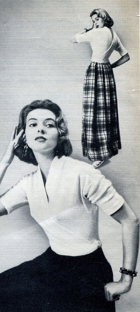 1950s Claire McCardell'se Sexy Wrap Blouse pattern by JustATetch, $2.00